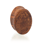 amboyna burl plugs