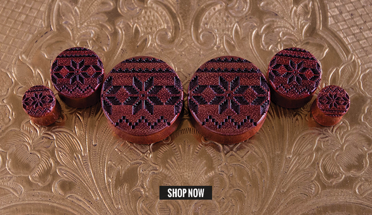 Bloodwood Fair Isle Plugs