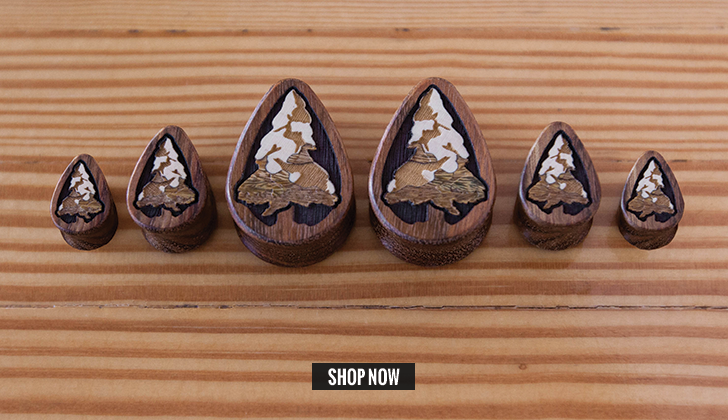 Chechen Snowy Pine Teardrop Plugs