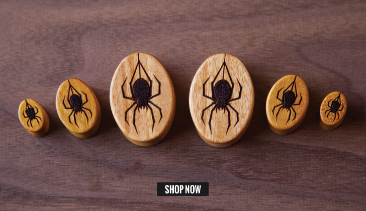 Osage Spider Oval Plugs