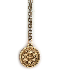 Geometric Snowflake Amulet