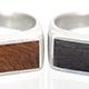Verawood Silver Wood Top Rings
