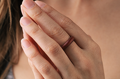 Exskinny Ring - Pink Ivory