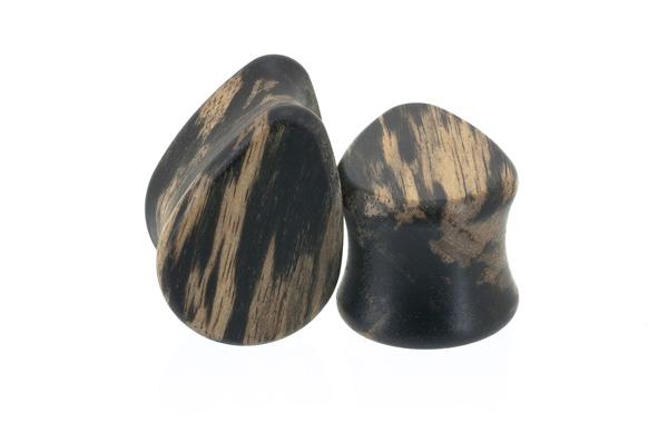 Tiger ebony wood plugs