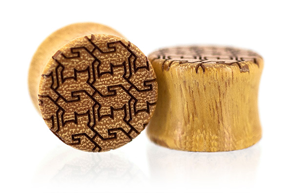 Osage Orange Cat Tessellation Plugs