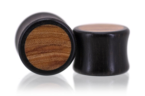Gaboon Ebony / Wild Olive Inlay Plugs