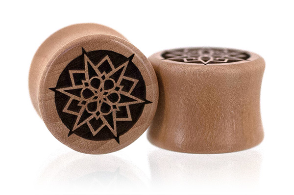 Swiss Pear Geometric Snowflake Plugs