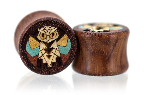 Granadillo Wise Old Owl Plugs