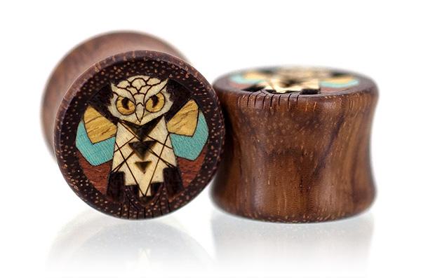 Granadillo Wise Old Owl Plugs