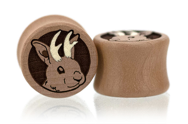 Swiss Pear Jackalope Plugs
