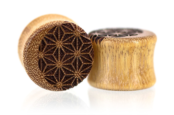 Osage Orange Luna Plugs