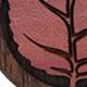 Pink Ivory Autumn Leaf Teardrop Plugs