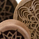 Curly Maple Geometric Snowflake Plugs