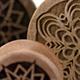 Curly Maple Geometric Snowflake Plugs