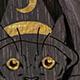 Blue Mahoe Mystic Kitties Teardrop Plugs