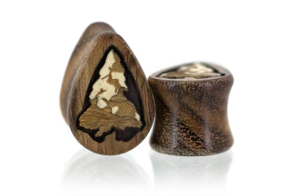 Chechen Snowy Pine Teardrop Plugs