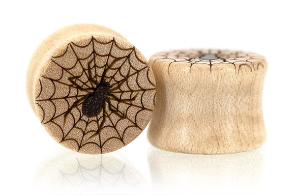 Curly Maple Spider Plugs