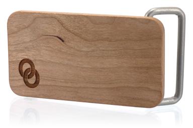 Cherry Wood Logo Belt Buckle
