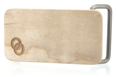 Maple Wood Logo Belt Buckle