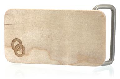 Maple Wood Logo Belt Buckle