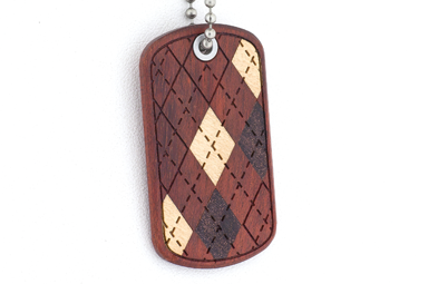 Argyle Dog Tag - Bloodwood