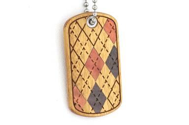 Argyle Dog Tag - Orange Osage