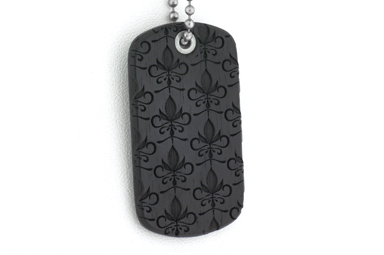 Baroque Pattern Dog Tag