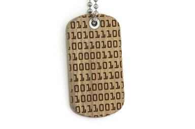 Binary Code Dog Tag - Vera