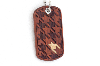 Houndstooth Dog Tag