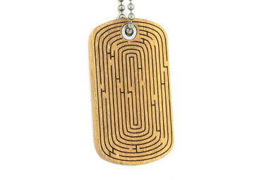 Maze Dog Tag - Osage Orange