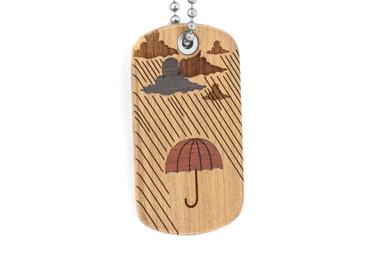 Rainy Day Dog Tag