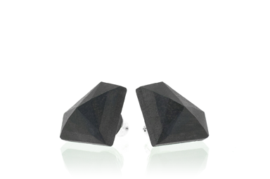 Diamond Earrings - Gaboon Ebony