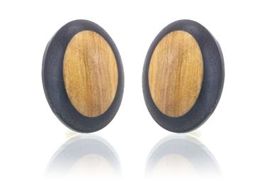 Olive Earrings - Gaboon Ebony