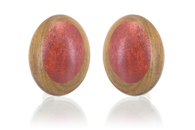 Olive Earrings - Pink Ivory