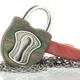 Lock Pendant - Bronze