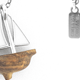 Sail Boat Pendant - Silver
