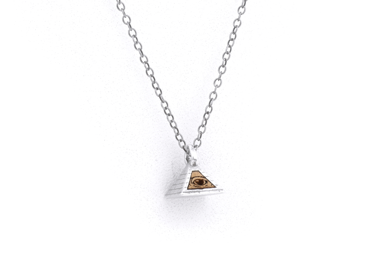 All seeing eye pendant silver omerica organic all seeing eye pendant silver mozeypictures Images