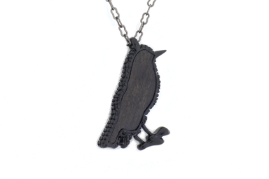 Black Bird Pendant - Blackwood