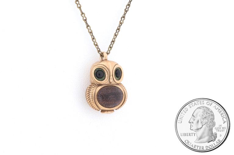 owl pendant bronze omerica organic