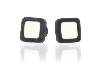 Chicklet Earrings - Ebony