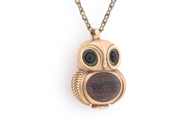Owl Pendant - Bronze