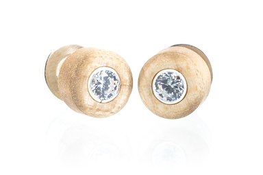 Cz Stud Earrings - Maple