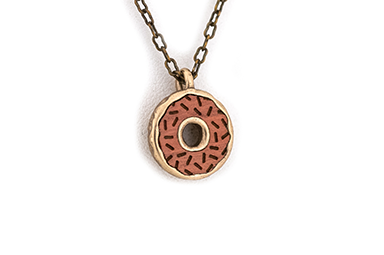 Doughnut Pendant - Bronze