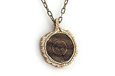Growth Ring Pendant - Bronze