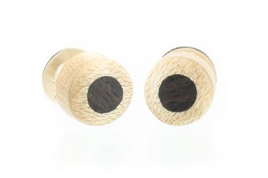 Inlay Stud Earrings - Maple