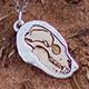 Bear Skull Pendant - Silver