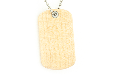 Curly Maple Dog Tag