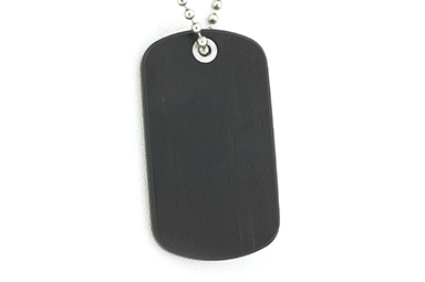 Gaboon Ebony Dog Tag