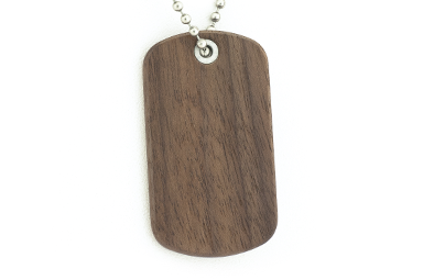 Walnut Dog Tag