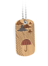 Rainy Day Dog Tag